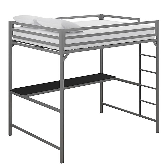 Alternate image 1 for EveryRoom Mason Metal Loft Bed