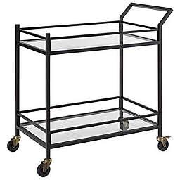 Crosley Furniture Aimee 2-Tier Bar Cart in Oil Rubbed Bronze