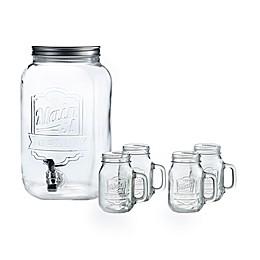 Style Setter Mason Jar 5-Piece Beverage Dispenser Set