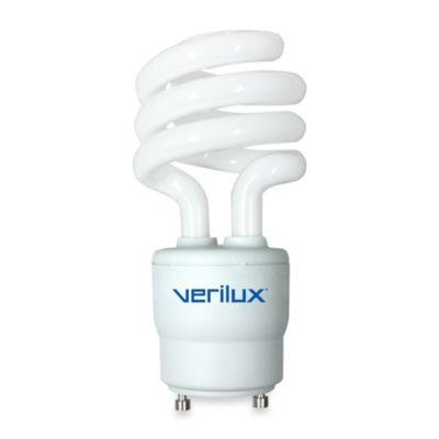 Verilux smartlight 13 watt spiral fluorescent replacement light bulb bed bath beyond for Bathroom fluorescent light bulb