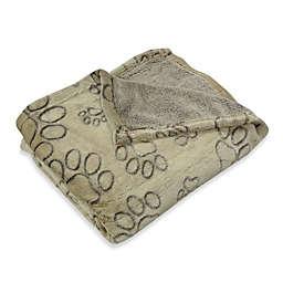 Pawslife™ Ultra Plush Embossed Paws Pet Blanket