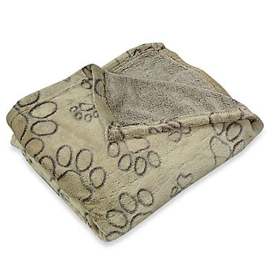 Pawslife™ Ultra Plush Embossed Paws Pet Blanket