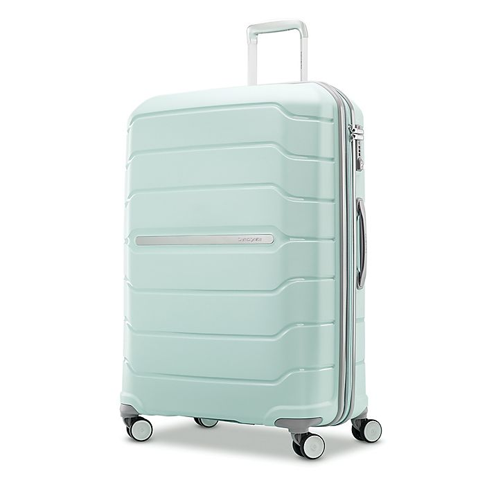 Alternate image 1 for Samsonite® Freeform 28-Inch Hardside Spinner Checked Luggage in Mint Green