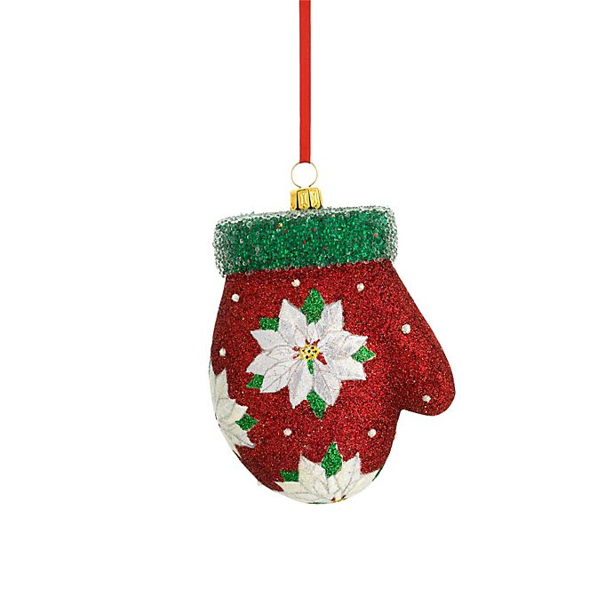 Reed & Barton® Glass Blown Christmas Mitten Ornament | Bed ...