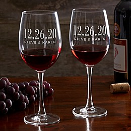 The Big Day Personalized 19.25 oz. Red Wine Glass