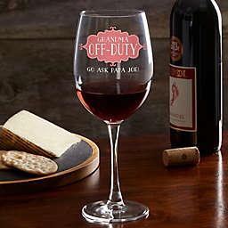 Mom Off-Duty Personalized 19.25 oz. Red Wine Glass