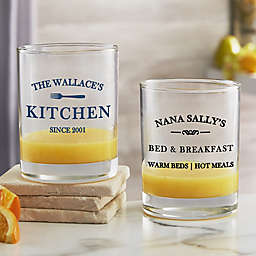 Family Market Personalized 14 oz. Short Drinking Glass