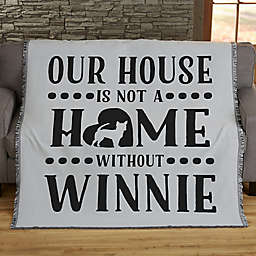 Our Pet Home Personalized 56-Inch x 60-Inch Woven Throw