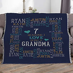 Reasons Why For Her Personalized 56-Inch x 60-Inch Woven Throw