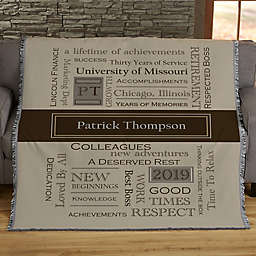 My Retirement Personalized 56-Inch x 60-Inch Woven Throw