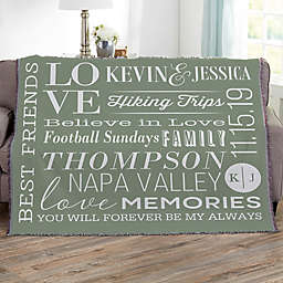 Better Together Personalized 56-Inch x 60-Inch Woven Throw