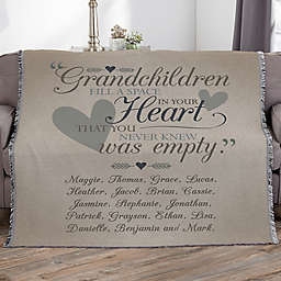 Grandparents Personalized 56-Inch x 60-Inch Woven Throw