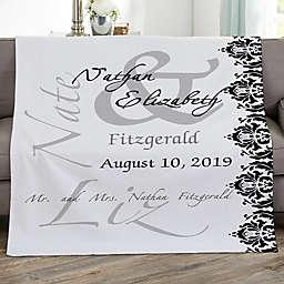 The Wedding Couple Personalized 50-Inch x 60-Inch Sweatshirt Blanket