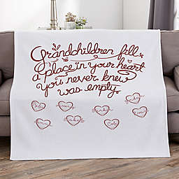 Grandchildren Hearts Personalized 50-Inch x 60-Inch Sweatshirt Blanket