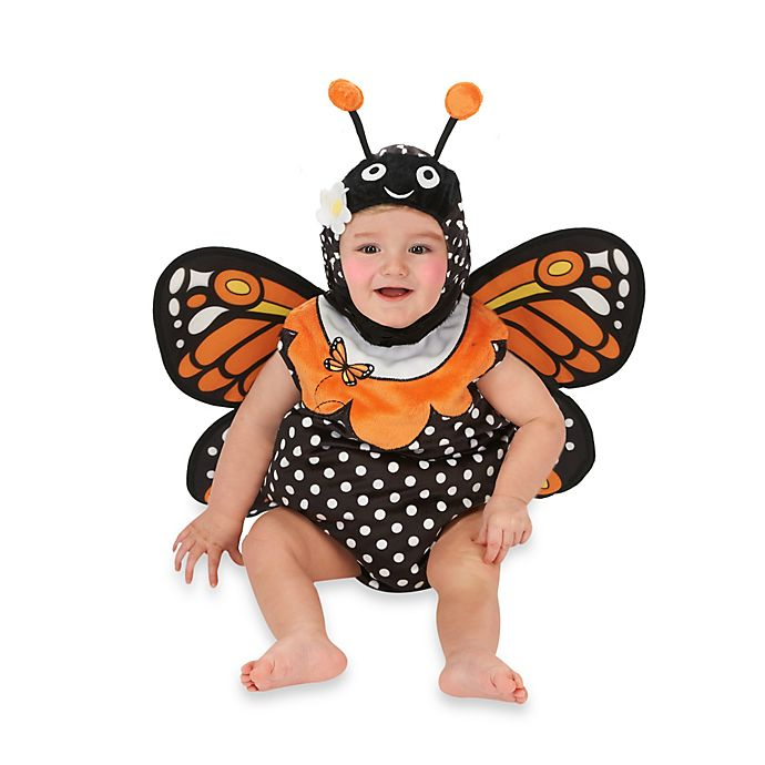 Alternate image 1 for Just Pretend® Monarch Butterfly Infant Romper
