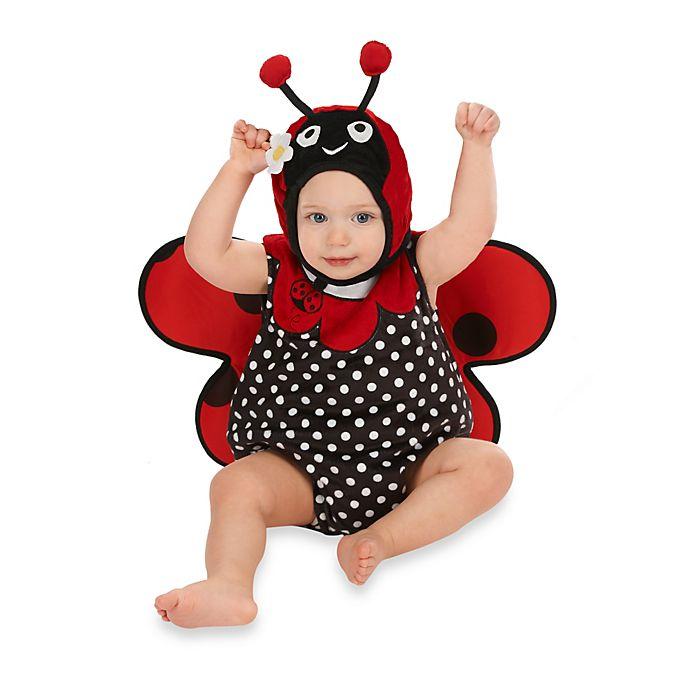 Alternate image 1 for Just Pretend® Ladybug Infant Romper
