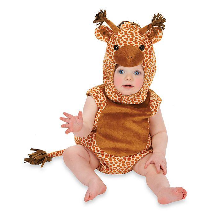 Alternate image 1 for Just Pretend® Giraffe Infant Romper
