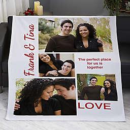 Romantic Love Photo Pesonalized 50-Inch x 60-Inch Sweatshirt Blanket