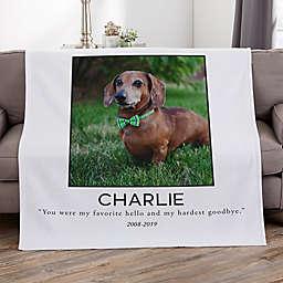 Pet Memorial Personalized 50-Inch x 60-Inch Sweatshirt Photo Blanket