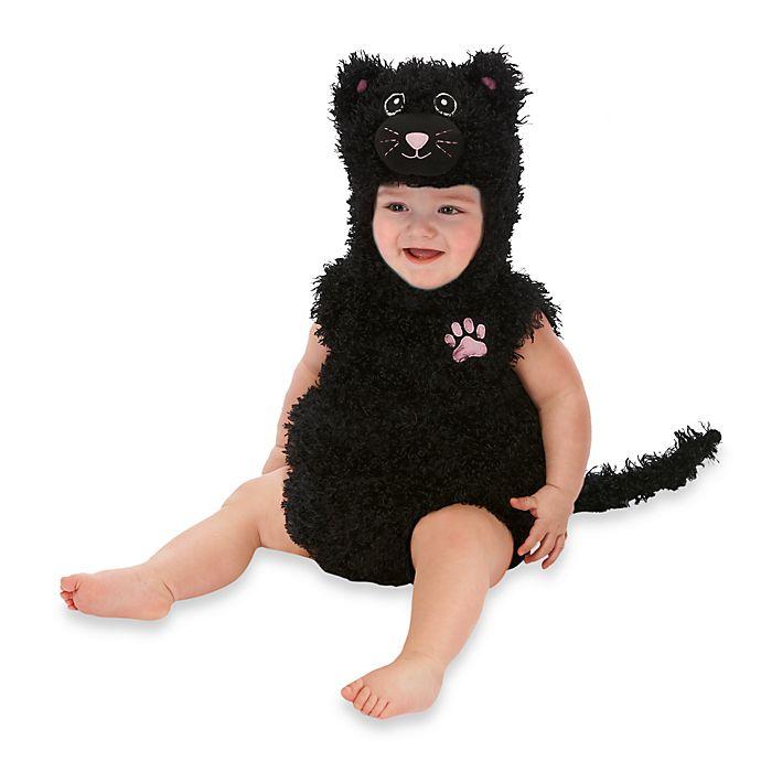 Alternate image 1 for Just Pretend® Black Cat Infant Romper