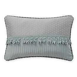 Waterford® Landon Oblong Throw Pillow in Aqua