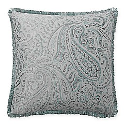 Waterford® Landon Square Throw Pillow in Aqua