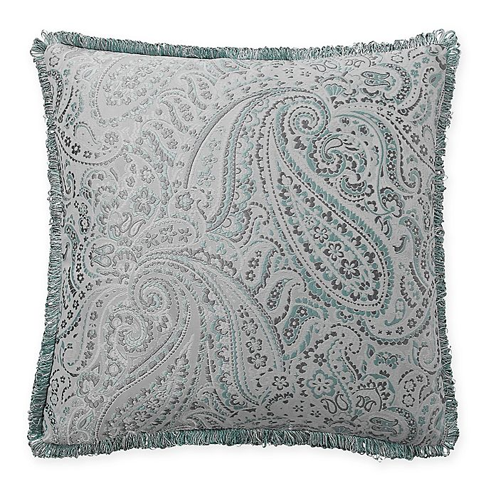 Alternate image 1 for Waterford® Landon Square Throw Pillow in Aqua