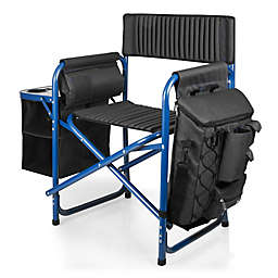 Picnic Time® Fusion Backpack Chair with Cooler in Dark Grey/Blue
