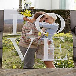 LOVE Personalized 50-Inch x 60-Inch Sweatshirt Photo Blanket