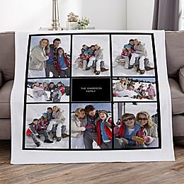 Photomontage Personalized 50-Inch x 60-Inch Sweatshirt Blanket