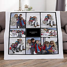 Photomontage Personalized 50-Inch x 60-Inch Sweatshirt Blanket