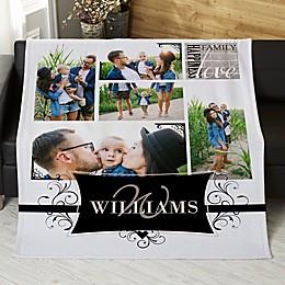 Family Photo Memories Personalized 50-Inch x 60-Inch Sweatshirt Blanket