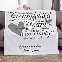 Grandparents Personalized 50-Inch x 60-Inch Sweatshirt Blanket