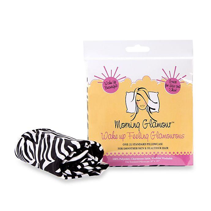 Alternate image 1 for Morning Glamour® Satin Standard Pillowcase in Zebra