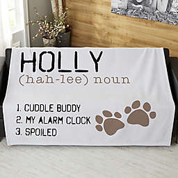 Definition Of My Dog Personalized 50-Inch x 60-Inch Sweatshirt Blanket