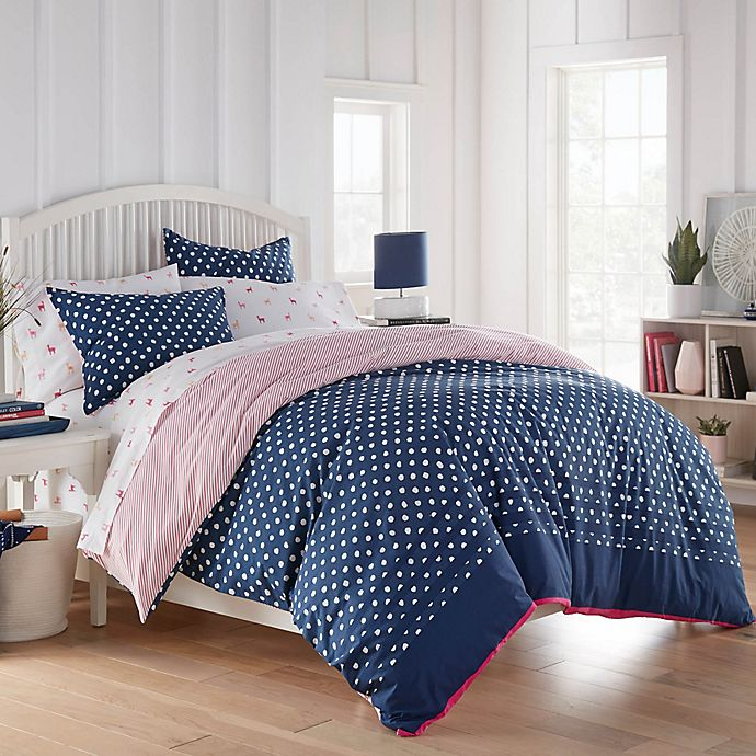 Alternate image 1 for Poppy & Fritz® Yvie Comforter Set in Navy