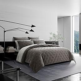 Vera Wang® Velvet Quilt Collection in Graphite