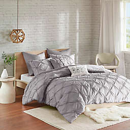 Urban Habitat Talia 7-Piece Elastic Embroidered Chambray Bedding Set