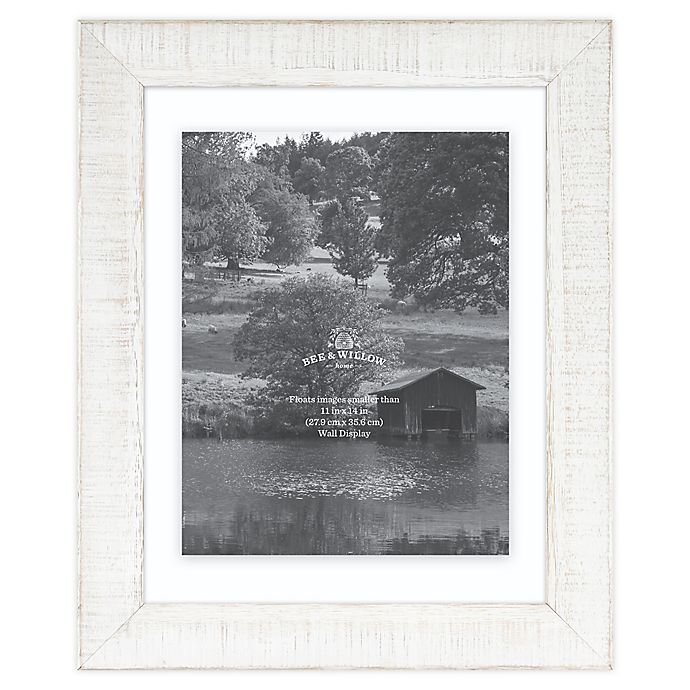 Alternate image 1 for Bee & Willow™ Home 11-Inch x 14-Inch Floating Picture Frame in White