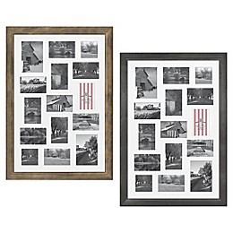 Bee & Willow™ Home 15-Photo Collage Matted Picture Frame in Light Chocolate