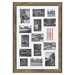 Bee & Willow™ Home 15 Photo Collage Matted Picture Frame in Light Chocolate