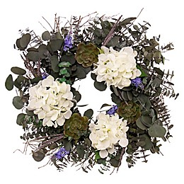 Bee & Willow™ Home Lavender Succulent Wreath
