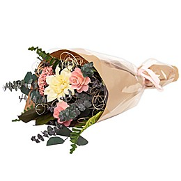 Bee & Willow™ Home Artificial White Mum and Pink Rose Bouquet