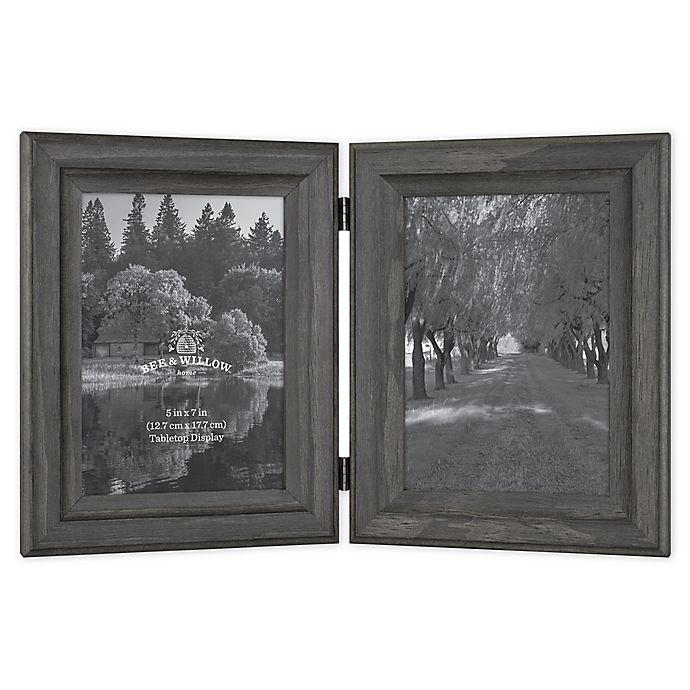 Alternate image 1 for Bee & Willow™ Home 2-Photo 5-Inch x 7-Inch Hinged Picture Frame in New Oxford Black