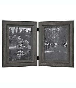 Portarretratos doble Bee & Willow™ Home con bisagras en negro oxford