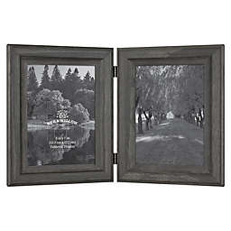 Bee & Willow™ Home 2-Photo 5-Inch x 7-Inch Hinged Picture Frame in New Oxford Black