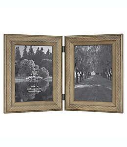 Portarretratos doble Bee & Willow™ Home con bisagras en chocolate claro