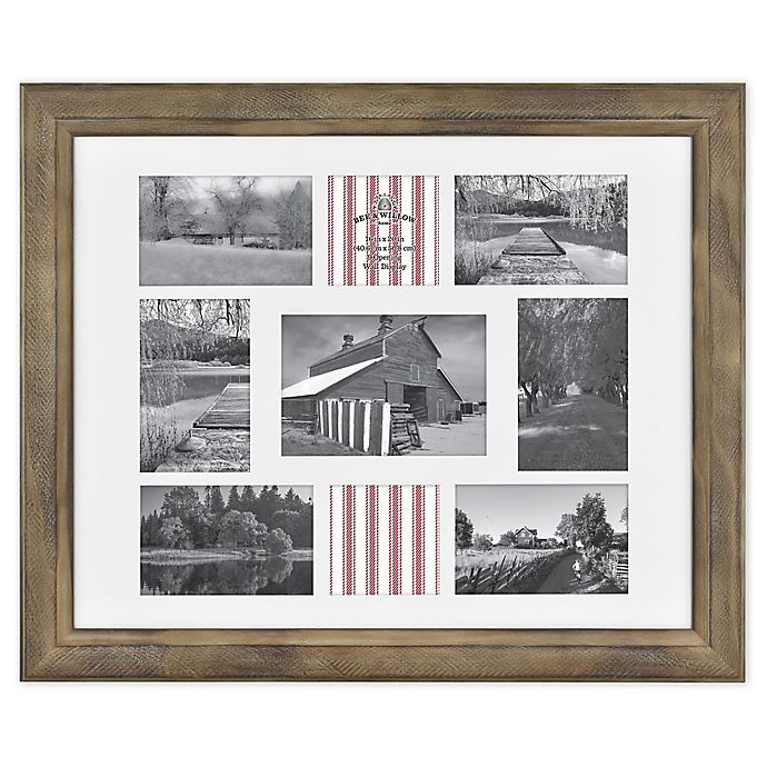 Alternate image 1 for Bee & Willow™ Home 9-Photo Collage Matted Picture Frame in Light Chocolate