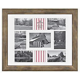 Bee & Willow™ Home 9-Photo Collage Matted Picture Frame in Light Chocolate
