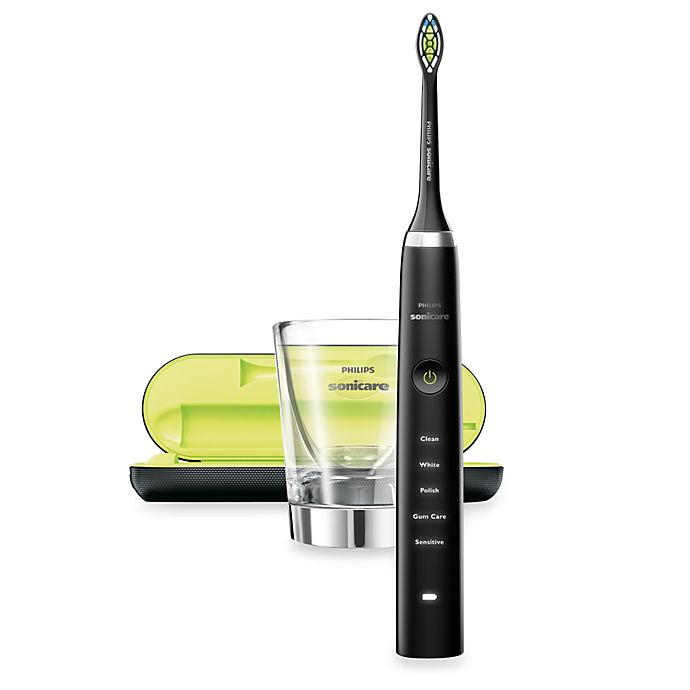 Alternate image 1 for Philips Sonicare® Diamond Clean Rechargeable Electric Toothbrush in Black